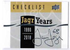 18/19 2018 UD SERIES 1 HOCKEY JAGR YEARS INSERT CARDS (JJ-XX) U-Pick From List