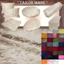 Mv02 L-Tan Crushed Velvet Seat Patio Bench 3D Box Cushion Bolster Cover/Runner