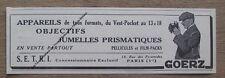 Publicité ancienne jumelles prismatiques Goerz ,1930,pub, advert