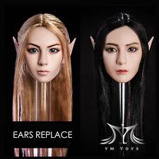YMtoys 1/6th YMT09-A/B Elf Beauty Head Sculpt Detachable Ears for Female Figure