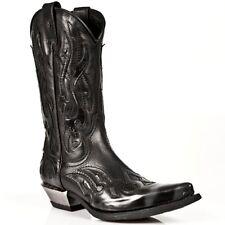 New Rock Boots Unisexe Punk Gothic Bottes - Style 7921 S3 Argenté & Noir