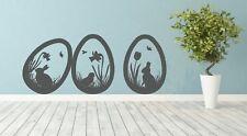 Wandtattoo Ostereier Osterhase, Frühling Ostern Aufkleber Dekoration Sticker,