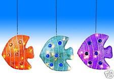 Dekoleuchte Fisch Lampe Fiberglas Lichterkette 10 flg. Dekoration Kinderleuchte