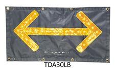 TDA30LBx 4-40V TRAFFIC DIRECTION ARROW MAT FLASHING 26RED 4AMBER LED REFLECTIVE