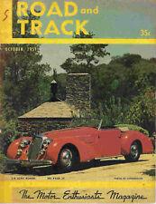 Road & Track 1951 Oct alfa romeo mg humber hawk racing