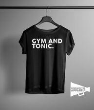 Gym And Tonic Womens T-Shirt Alcohol Booze Boozy Tonic Tee