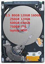 "80GB 120GB 160GB 250GB 320GB 500GB 640GB 750GB 1TB 2.5"" SATA INTERNAL HARD DRIVE"