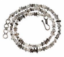 "4-6mm Beads Nuggets Herkimer Diamond Quartz Point Chips 12-45"" Strand Neckalce"