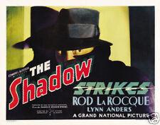 The Shadow strikes Rod LaRoque cult movie poster print