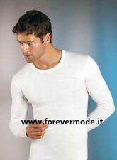 T-shirt uomo Gicipi girocollo manica lunga in caldo misto lana pesante art 43 ML