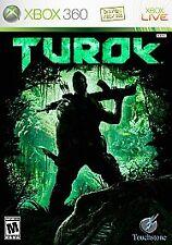 Turok - Xbox 360 Jurassic Dinosaur Fighting Video Game Complete