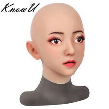 Maschera Trucco realistici CROCE medicazione crossdresser gel di silice Maschera transgender