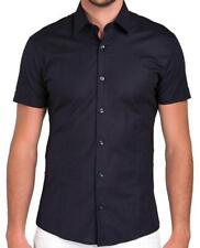 Red Bridge Herren Basic Design Slim Fit kurzarm Hemd dunkelblau Redbridge Shirt