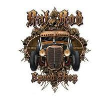 Rat Rod Speed Shop Hot Rod T-shirt 100% Cotton Small-XXXL