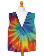 Novelty Waistcoat Fun Fancy Dress Informal Wacky Festival Party Stag Tie Dye