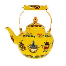 Cheftor Authentic Enameled Steel Tibetan Buddhist Style Teapot Kettle