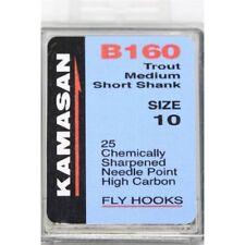 Kamasan B160 Trout Medium Short Shank Fly Tying Game Fishing Hooks All Sizes