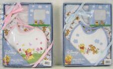 4pc Baby Infant Gift Set Pooh 2 Bodysuits Bib Photo Frame Boy Girl New