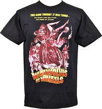 T-shirt homme loups-garous sur roues b-movie horreur moto clan crâne S-5XL