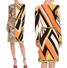 MW009616 - DESIGNER MULTI-COLOURED JERSEY SILK DRESS (#700)
