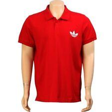 $65.00 Adidas Pique Emblem Polo (light scarlet / white) W56059
