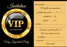 5 - 12 ou 14 cartes invitation anniversaire vip réf 460