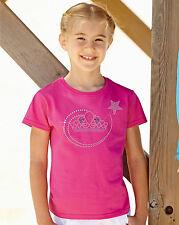 Tiara/Crown and Magic Wand Rhinestone / Diamanté Embellished Girl's T-shirt