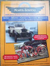1997 RIVISTA DI SCAMBIO VEICOLI STORICI AUTO E MOTOCICLI ANNO 1 - NUMERO 1 RARO