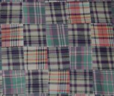 Three Chickadees Cotton Patchwork Madras Fabric by the Yard ~ Litchfield Inn