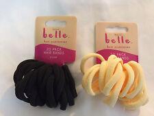 Belle Women`s Girl Hair Accessories 20 Plain Hair Band Black and Yellow