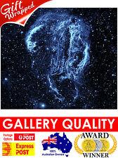 NEW Cygnus Loop Nebula, NASA Space, Hubble Telescope, Giclee Art Print or Canvas