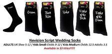 Noir Review Script Wedding Bridal Chaussettes (3 tailles/33 Bridal titres)