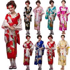Women Ladies Kimono Robe Traditional Japanese Dress Photography Cosplay Costume
