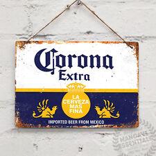 Corona Beer Replica Vintage Métal Mural Signe Plaque Rétro Pub Bar MANCAVE Cuisi...