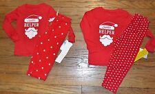Carter's Santa's Little Helper Sleepwear Top & Polka Dot Bottoms