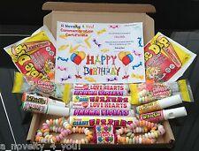 Vegetarian Retro Sweet Gift Box Love Heart Personalised Birthday 40th Thank You