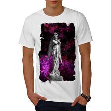 Wellcoda Dark Angel Skeleton Mens T-shirt, Religion Graphic Design Printed Tee