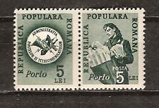 ROMANIA # J105 COMMUNICATIONS BADGE & POSTALWOMAN