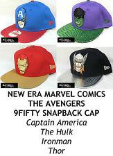 """NEW ERA MARVEL COMICS """"Le AVENGERS"""" 9 Fifty Snapback Cap-Assortiment de caractères"""