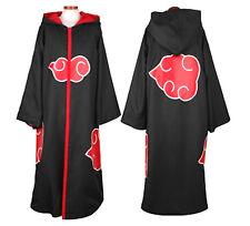 Naruto Akatsukii Vestiti Carnevale tunica e Cappuccio Dress up Cosplay with Hat