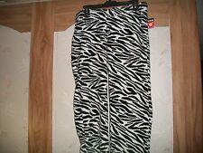 Joe Boxer Women Plush Zebra Design Sleep/Loung Pants NEW Size Medium & Large