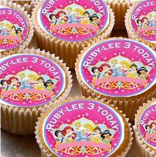 24 Personnalisé Disney Princesse Cup Cake Fée glaçages pour gâteau 10 modèles différents
