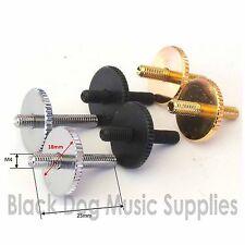 Tune O Matic guitar bridge posts height adjusting screws chrome black or gold