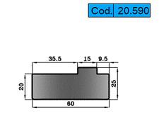 Press Brake Tooling New Reversible Twin Vee Offset Holder, model 20.590