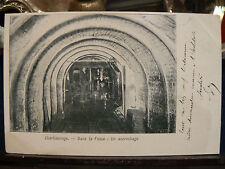 cpa belgique baudour charbonnage dans la fosse un accrochage mine