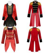 Kids Boys Halloween Circus Ringmaster Costume Tailcoat Jacket Party Fancy Dress