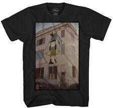 Disney Donald Duck Wheatpaste Men's Black T-Shirt New