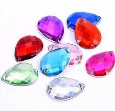 8x13mm X 100Pcs Sew On Flatback Rhinestones Crystals Stones Gem Stones UK #1 NEW