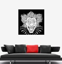 Wall Decal Crazy Clown Evil Head Killer Horror Laugh Vinyl Sticker (ed571)