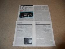 New listing Tandberg Tcd 3014 Cassette Review, 4 pg,1984,Full Test